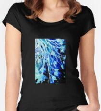 Winter Leaves Women's Fitted Scoop T-Shirt
