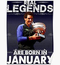 Rafa Nadal January Poster