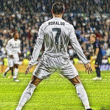 Christiano Ronaldo Celebration - Digital Painting by HTWallace