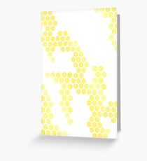 Ombre Honeycomb Print Greeting Card