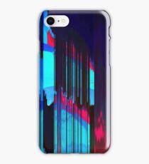 Retro Wave Data Flow - Glitch Art Print iPhone Case/Skin