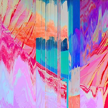 Color Mosh - Glitch Art Print by burning