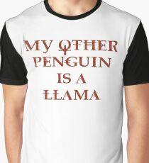 Penguin Llama Graphic T-Shirt
