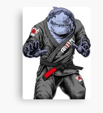 BJJ Shark Canvas Print