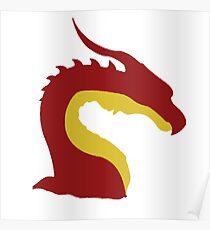 simplistic dragon Poster