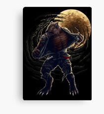 BJJ Werewolf Canvas Print