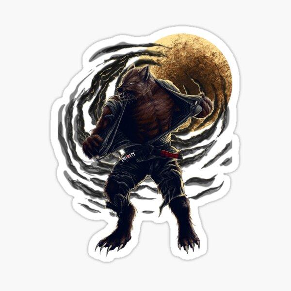 BJJ Werewolf Sticker