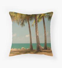 3 Palms Throw Pillow