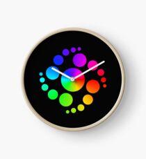 Rainbow Circle Clock