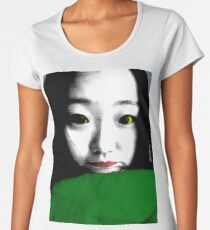BEAUTIFUL FUNNY ASIAN GIRL POP ART COLOR Women's Premium T-Shirt