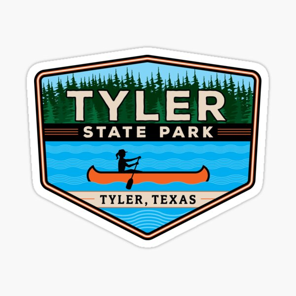 Tyler State Park Texas Badge Sticker