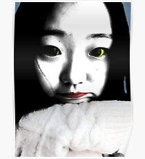 BEAUTIFUL FUNNY ASIAN GIRL POP ART COLOR Poster