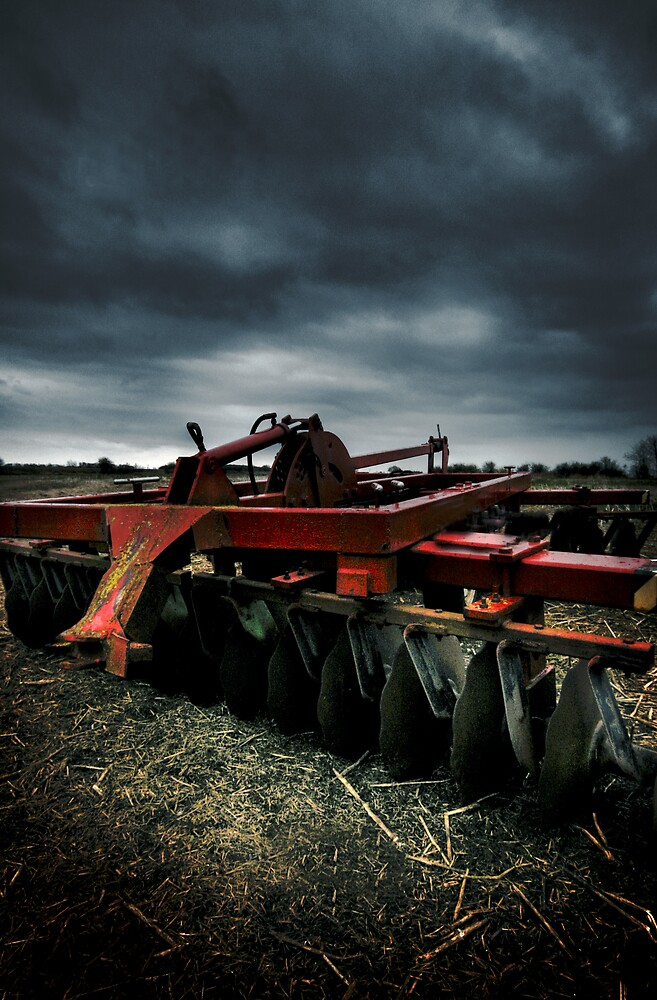Lonely plow by philge123