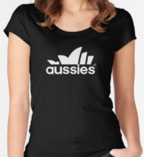 Aussie Sport by Tai's Tees Women's Fitted Scoop T-Shirt