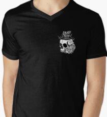 Tod vor Entkoffeinierung T-Shirt mit V-Ausschnitt für Männer