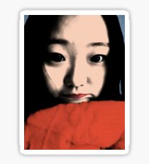 BEAUTIFUL FUNNY ASIAN GIRL POP ART COLOR Sticker