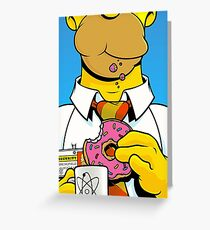 Homer Simpson Greeting Card