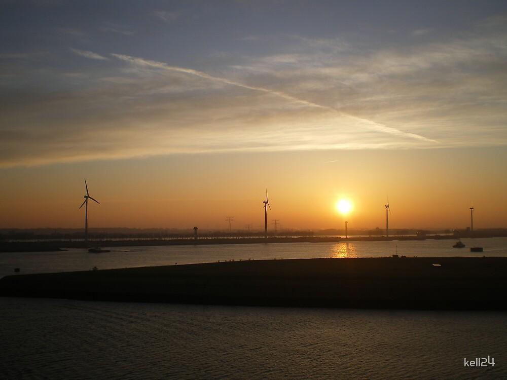 sunrise at Rotterdam by kell24