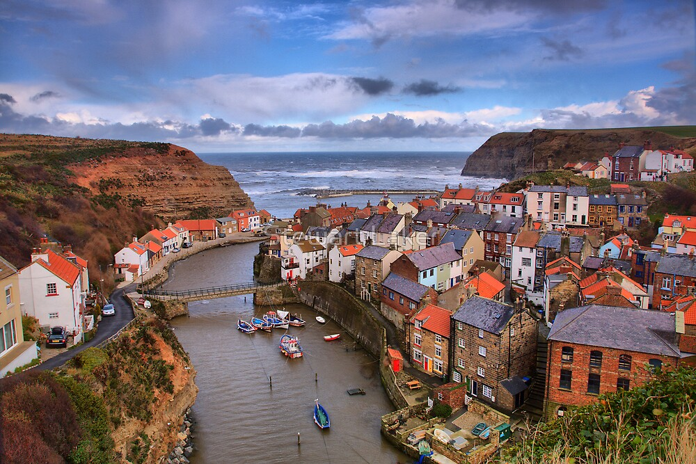 Windy Staithes by Stewart Laker