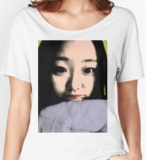 BEAUTIFUL FUNNY ASIAN GIRL POP ART COLOR Women's Relaxed Fit T-Shirt