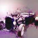 32 Ford Low Boy Roadster Watercoloured Sketch by ChasSinklier