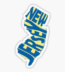 New Jersey State Word Art Sticker