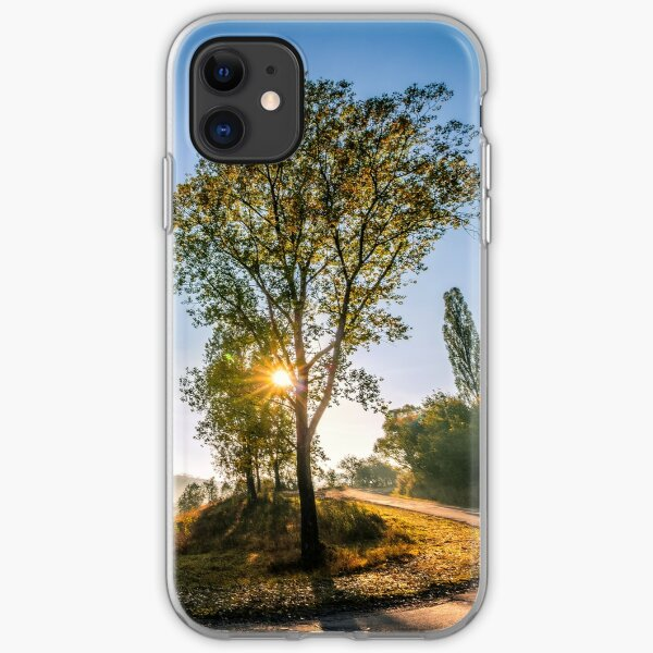 mountain curve road near the forest iPhone Soft Case