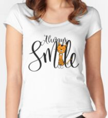 Always smile Women's Fitted Scoop T-Shirt