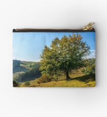 tree near valley in mountains Studio Pouch