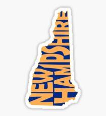 New Hampshire State Word Art Sticker