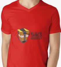 ClapTrap Troubles Men's V-Neck T-Shirt