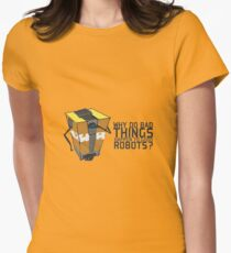 ClapTrap Troubles Womens Fitted T-Shirt