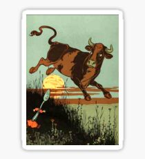 NURSERY RHYME, Hey diddle diddle, The cat and the fiddle, Sticker