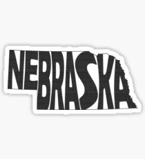 Nebraska State Word Art Sticker