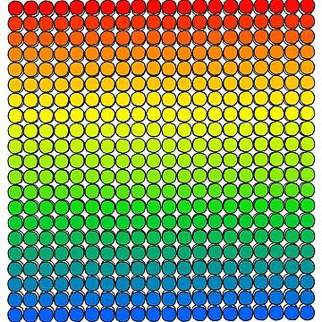 Rainbow Polka Dot Button Grid by mikeyuhoh