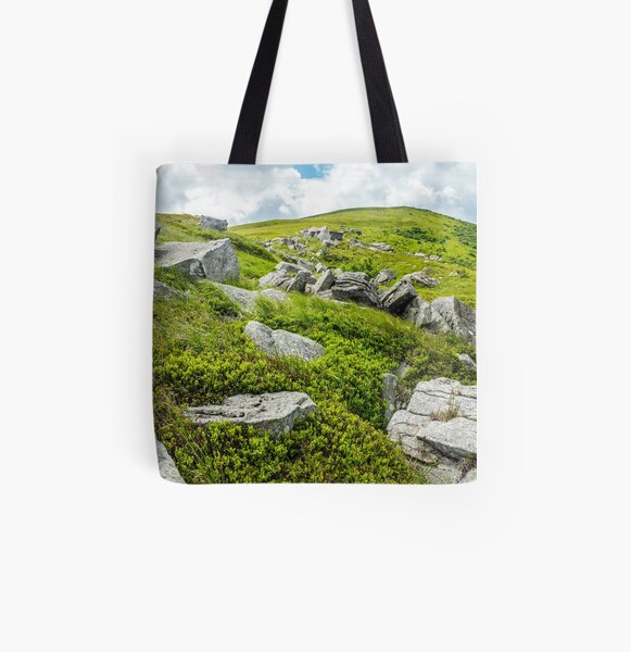 stones and boulders in Carpathian mountain range All Over Print Tote Bag