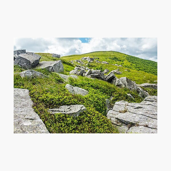 stones and boulders in Carpathian mountain range Photographic Print