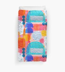 Felt Pen Happiness  Duvet Cover