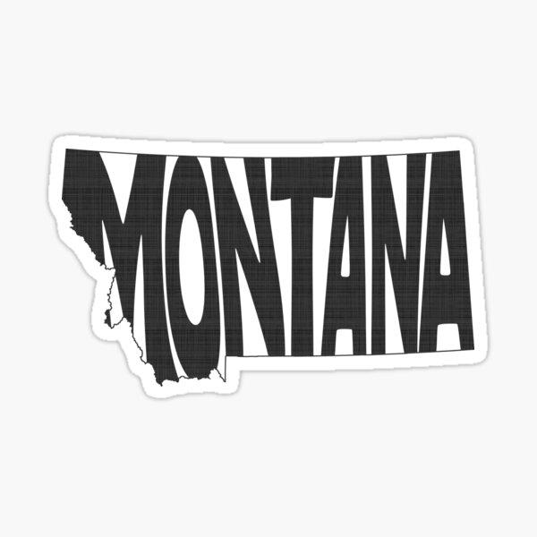 Montana State Word Art Sticker