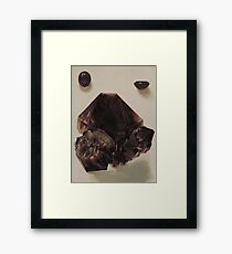 Natural Amethyst Mineral Framed Print