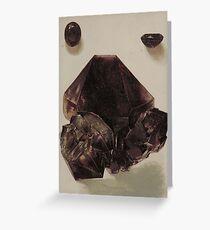 Natural Amethyst Mineral Greeting Card