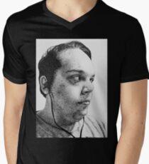 Self-Portrait Stippling Men's V-Neck T-Shirt