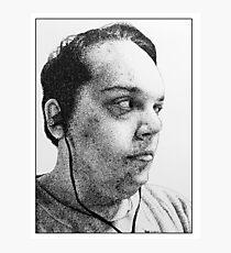 Self-Portrait Stippling Photographic Print