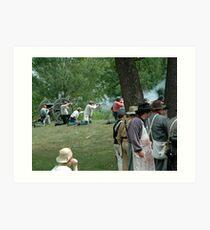 American Civil War reenactment Art Print