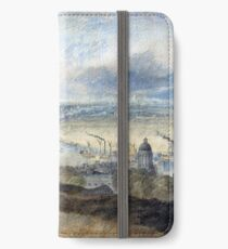 Joseph Mallord William Turner View of London from Greenwich iPhone Wallet/Case/Skin