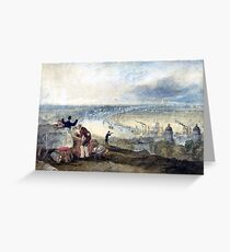 Joseph Mallord William Turner View of London from Greenwich Greeting Card