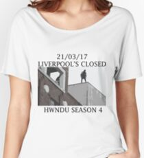He Will Not Divide Us 4 - Liverpool's Closed Women's Relaxed Fit T-Shirt
