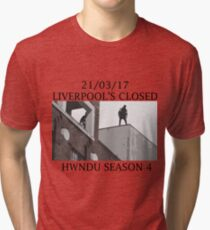 He Will Not Divide Us 4 - Liverpool's Closed Tri-blend T-Shirt