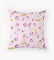 Painted rings pattern Throw Pillow