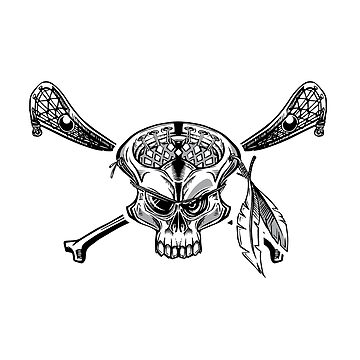Pirate Lacrosse Skull by solekitchen